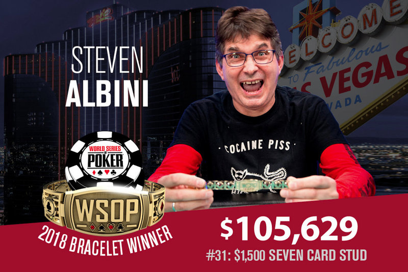 Steve Albini Wins Seven Card Stud Event At 2018 World Series Of